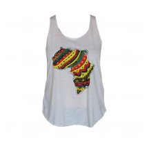 DEBARDEUR FEMME BLANC AFRIQUE VJR