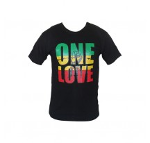 T-SHIRT NOIR ONE LOVE