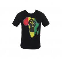 T-SHIRT NOIR AFRICA POING