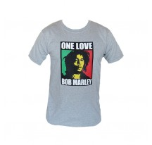 T SHIRT GRIS ONE LOVE BOB MARLEY