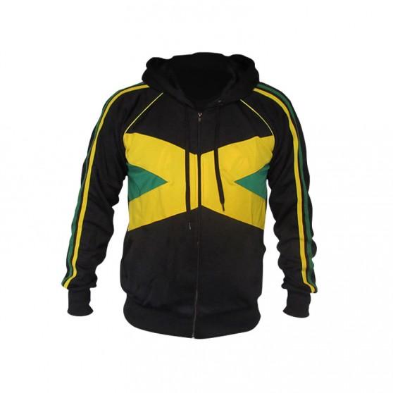 VESTE POLYESTER JAMAICA CAPUCHE NOIR