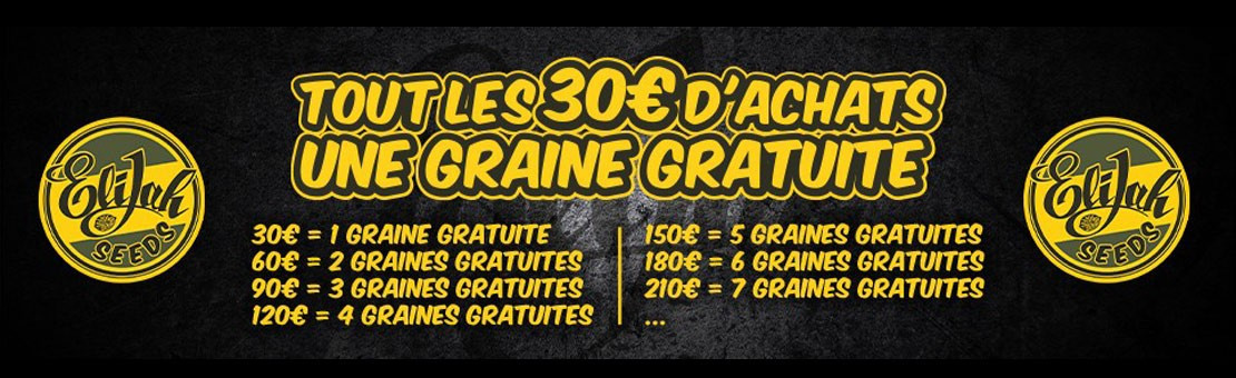 Commandez vos graines de collection sur elijah-seeds.fr
